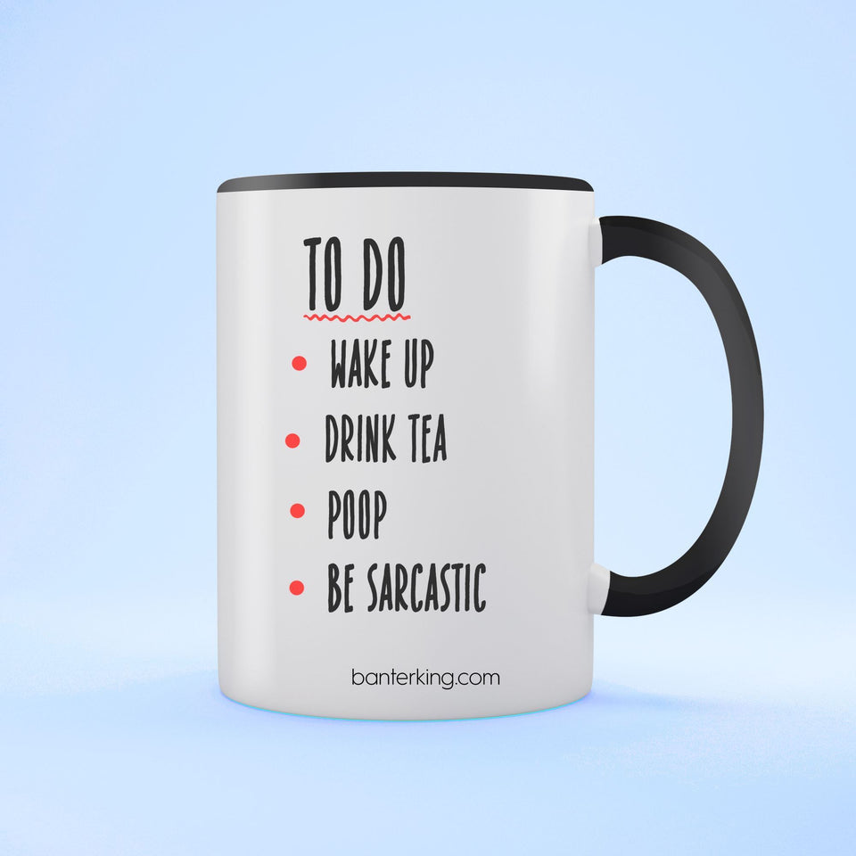 TO DO TWO TONED MUG Mug BanterKing Black 1 MUG