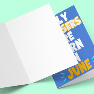 Tossers Born In June Greeting Card Stationery Prodigi