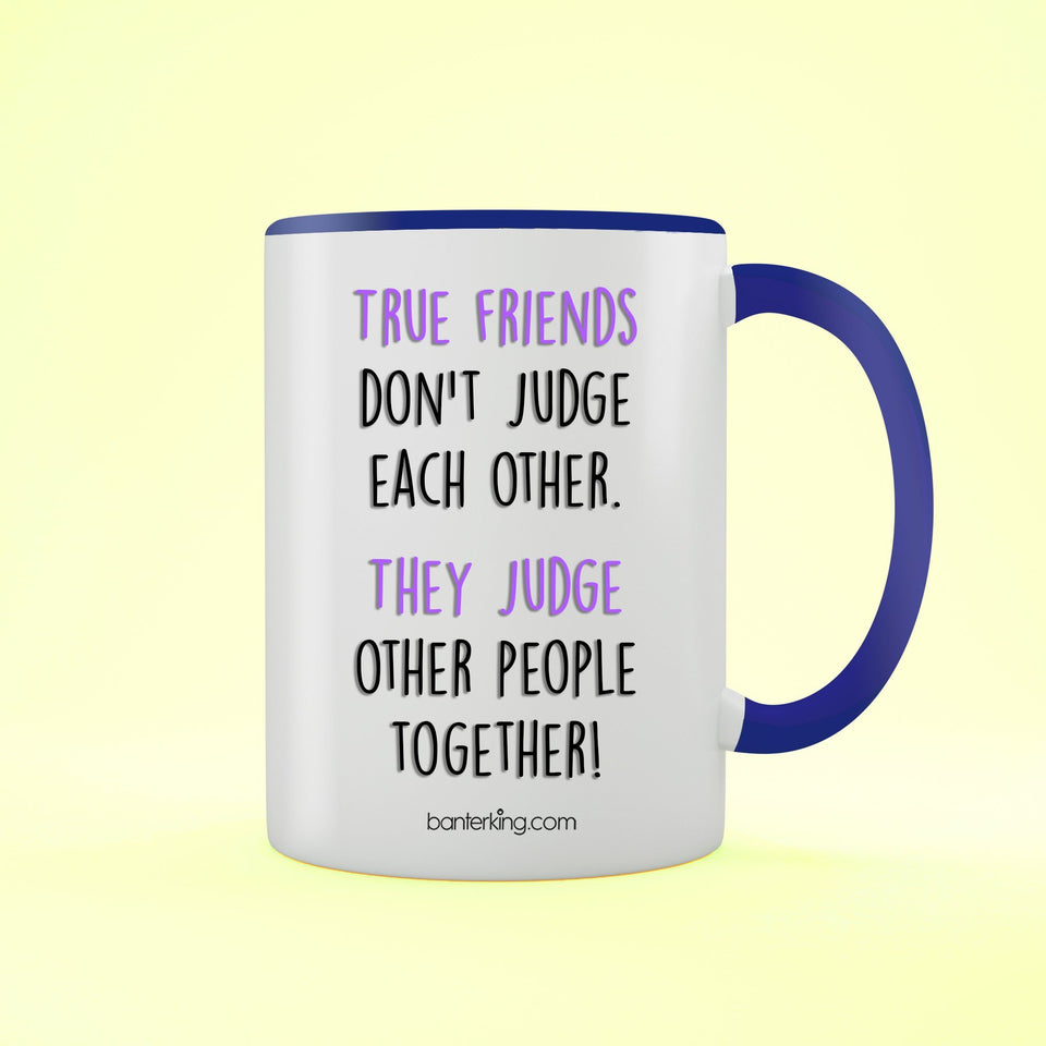 True Friends Two Toned 11oz Farther's Day Mug Mug BanterKing Blue 1 MUG