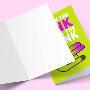 Two In The Pink Valentine's Greeting Card Stationery Prodigi