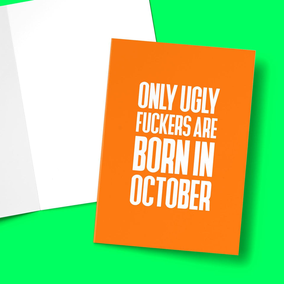 Ugly Fuckers Born In October Greeting Card Stationery Prodigi