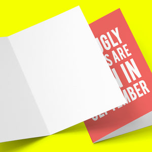 Ugly Fuckers Born In September Greeting Card Stationery Prodigi