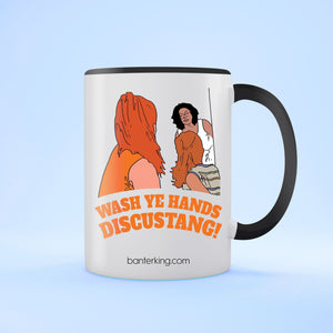 Wash Ye Hands Two Toned Large 11 oz Mug Mug BanterKing Black 1 MUG