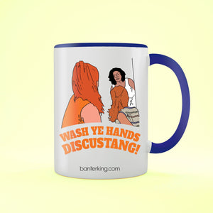 Wash Ye Hands Two Toned Large 11 oz Mug Mug BanterKing Blue 1 MUG