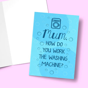 "Washing Machine Mother's Day Card Stationery Prodigi 5""x7"" 1 Card"