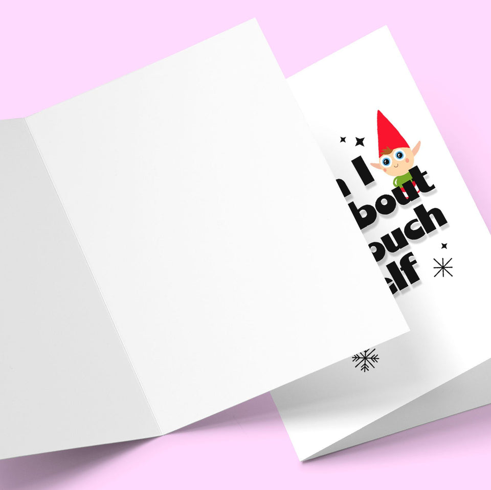 When i think about you i touch my elf Greeting Card Stationery Prodigi