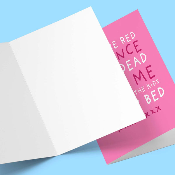 When The Kids Are In Bed Valentine's Greeting Card Stationery Prodigi