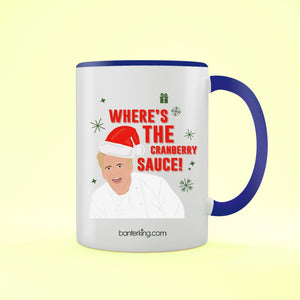 Where's The Sauce, Two Toned 11oz Mug Mug BanterKing Blue