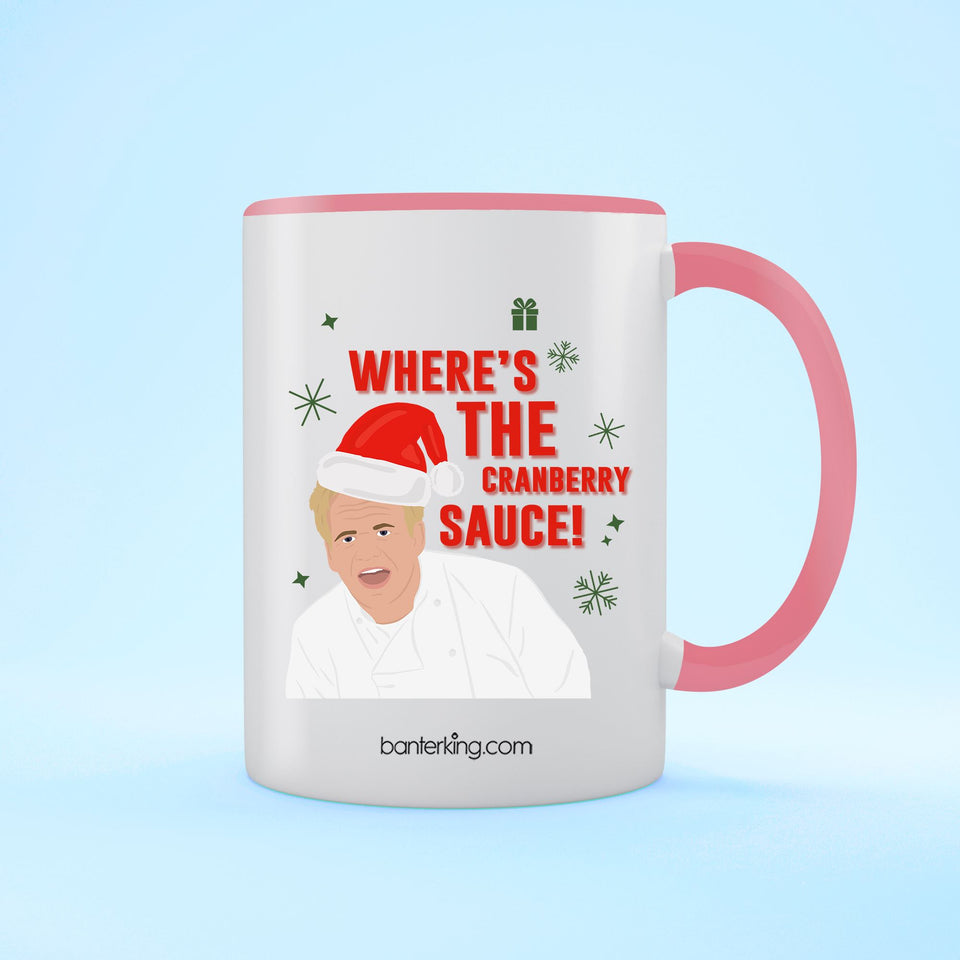 Where's The Sauce, Two Toned 11oz Mug Mug BanterKing Pink