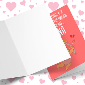 Whose Fault... Crap Present For Valentine's Greeting Card Stationery Prodigi