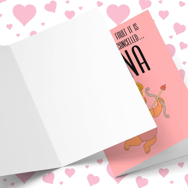 Whose Fault... Valentine's Is Cancelled Greeting Card Stationery Prodigi