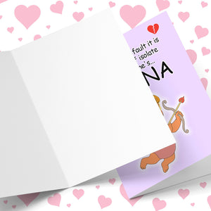 Whose Fault We Have To Self Isolate Valentine's Greeting Card Stationery Prodigi