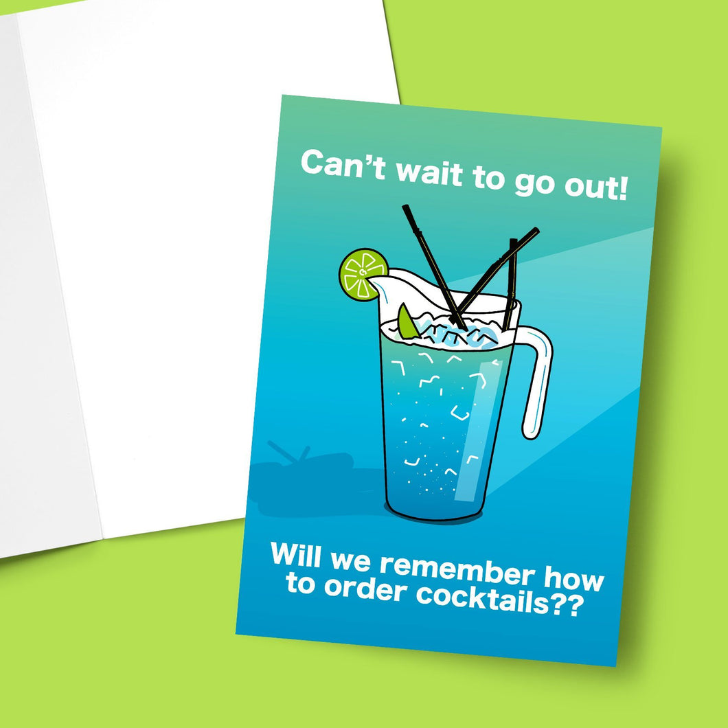 Will We Remember How To Order Cocktails Greeting Card Stationery Prodigi
