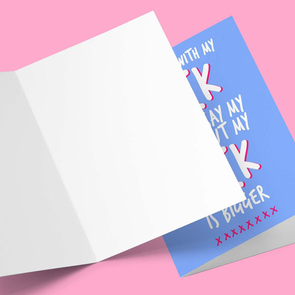 With All my cock Valentine's Card Greeting Card Stationery Prodigi