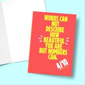 Words Can Not Describe Greeting Card Stationery Prodigi