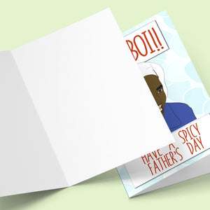 Ye Boi! Have A Spicy Farther's Day Card Stationery Prodigi