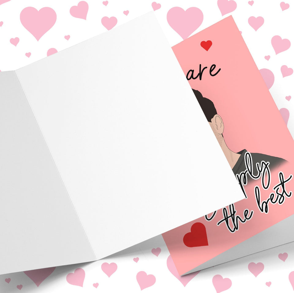 You Are Simply The Best Valentine's Greeting Card Stationery Prodigi