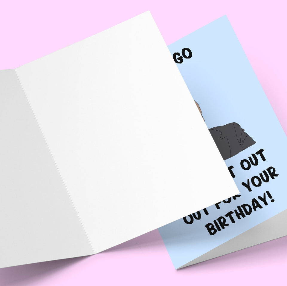 You can go out not out birthday card Greeting Card Stationery Prodigi