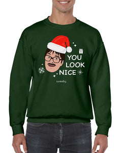 You Look Nice, Christmas Jumper (Unisex) Jumper BanterKing Small Green