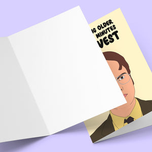 Your Getting Older Dwight Schrute Greeting Card Stationery Prodigi