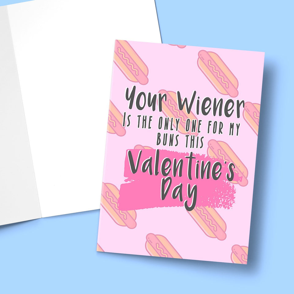 Your Wiener Is The Only One For My Buns This Valentine's Stationery Prodigi