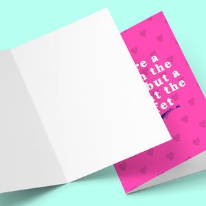 You're A Lady In The Streets, But A Freak At The Buffet Valentine's Greeting Card Stationery Prodigi