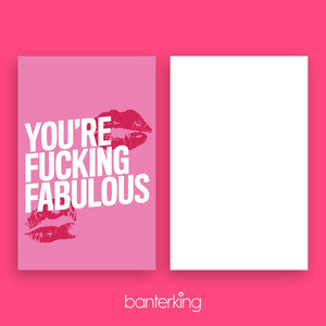 You're fucking fabulous Greeting Card Stationery Prodigi