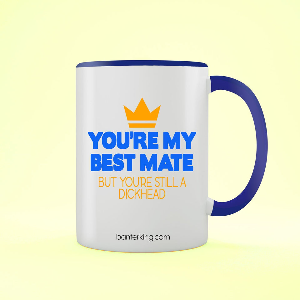 YOU'RE MY MATE BUT TWO TONED LARGE 11 OZ BANTER MUG Mug BanterKing Blue 1 MUG