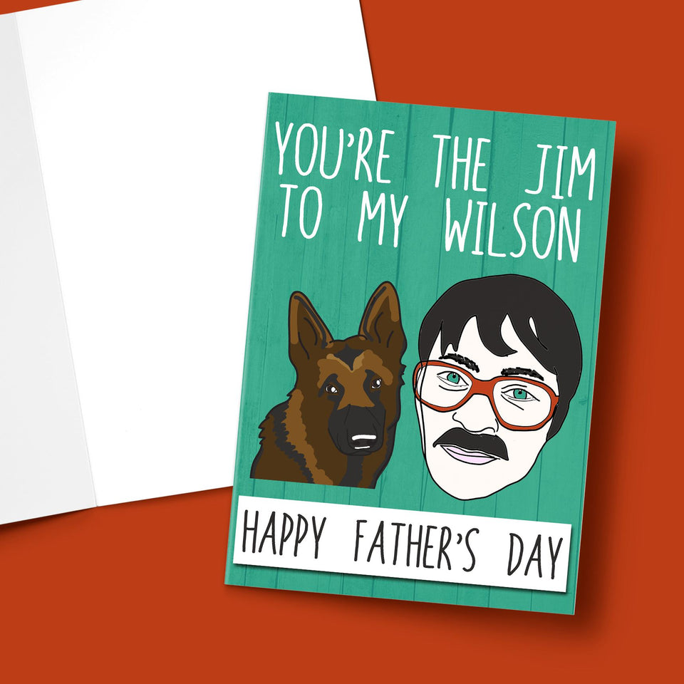 You're The Jim To My Wilson, Farther's Day Card Stationery Prodigi A5 1 Card