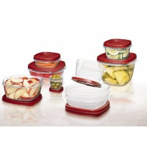 Rubbermaid 24-Piece Food Storage Kit with Easy-Find Lids