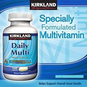 Kirkland, Daily Multivitamins 500 Tablets