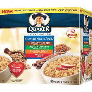 Quaker Instant Oatmeal Variety 52 ct