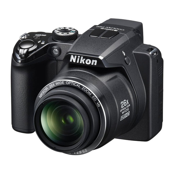 Nikon Coolpix P100 Black 10MP Digital Camera with 26x Optical Zoom