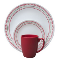Corelle® Livingware™ Holiday Stitch 16-Pc Dinnerware Set