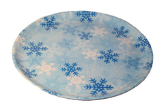 Christmas Snow Flakes Round Serving Tray