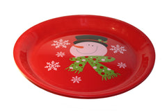 Christmas Snowman Round Serving Tray