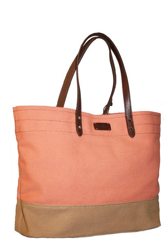 COLE HAAN COLOR BLOCK TOTE - REVERSIBLE