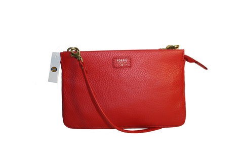 FOSSIL MIMI CONVERTIBLE CLUTCH CROSSBODY BAG LEATHER