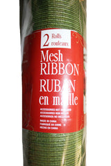 Mesh Christmas Ribbon  Green