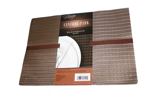 Town & Country Living CENTRAL PARK PLACEMATS---Set of 8