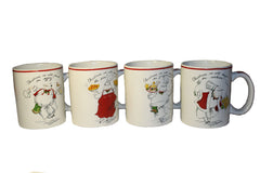 Christmas Santa Clause Mug Set of 4