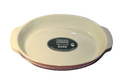 Cerutil Stoneware Oval Bakeware Red Orange - Made in Portugal