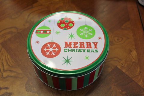 Christmas Holiday 8-in. Cookie Tin