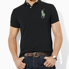 Polo Ralph Lauren Tall Custom-Fit Big Pony Polo-Black