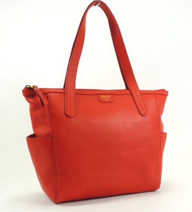 Fossil Mimi Shopper Leather (Real Red)
