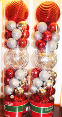 Merry Brite 33 Pc Shatterproof Christmas Ornament
