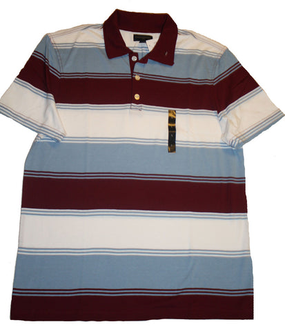 Banana Republic Branded Variegated Stripe Pique Polo