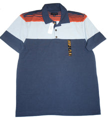 Banana Republic Branded Chest Stripe Pique Polo