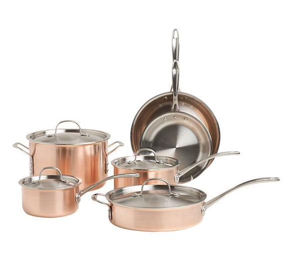 Calphalon® Tri-Ply Copper 10-Piece Cookware Set
