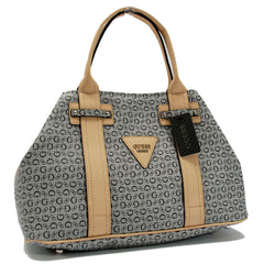 GUESS BRIGHT CANDY BLACK SIGNATURE TOTE BAG